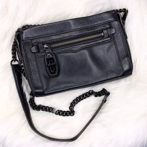 Rebecca Minkoff Leather Turnlock Crossbody Purse